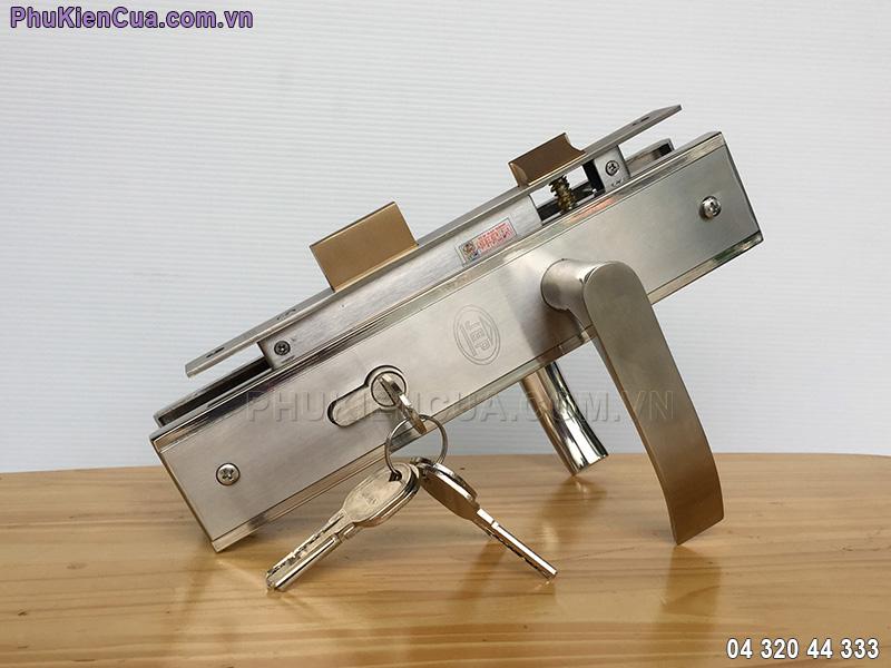 Khóa cửa gỗ tay gạt inox JEP MC41