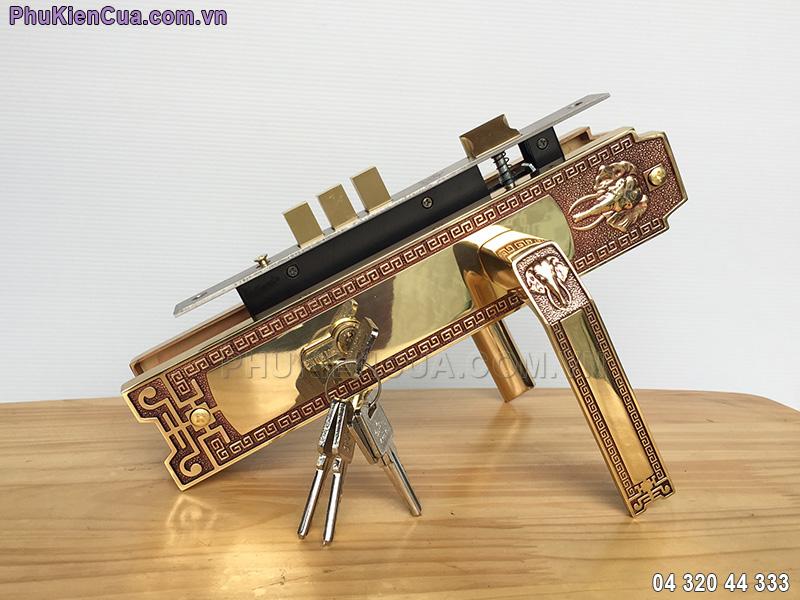 Khóa cửa tay gạt Huy Hoàng HC8528