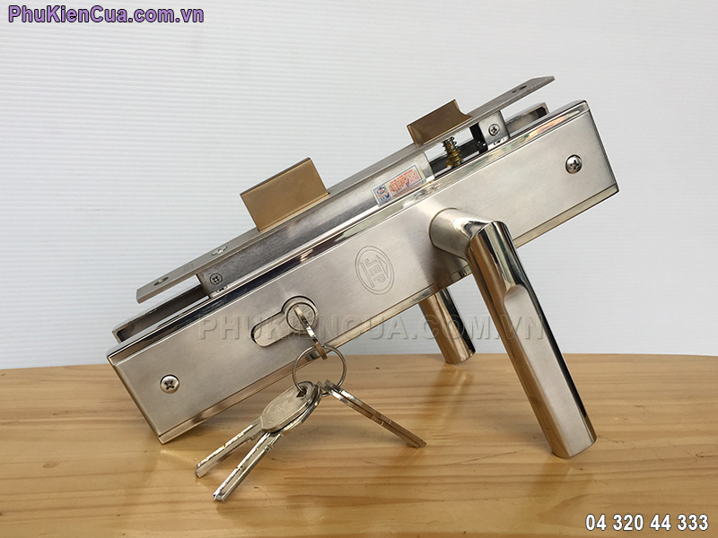 Khóa cửa tay gạt inox JEP MC42